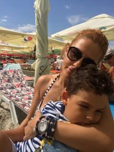 Oana Turcu si fiul ei