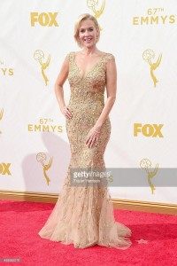 Penelope Ann Miller wears Lorena Sarbu to the 2015 Primetime Emmy Awards