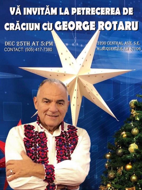 George Rotaru face Crăciunul la New York